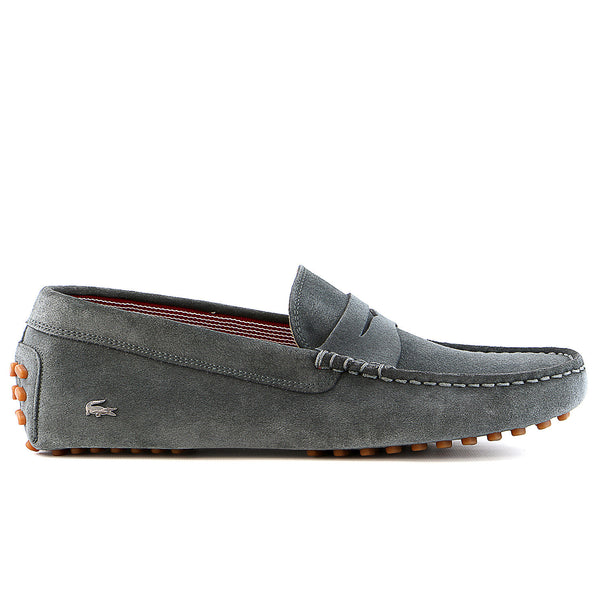 Lacoste Concours 17 SRM Suede Moccasin Loafer Shoe - Dark Grey - Mens