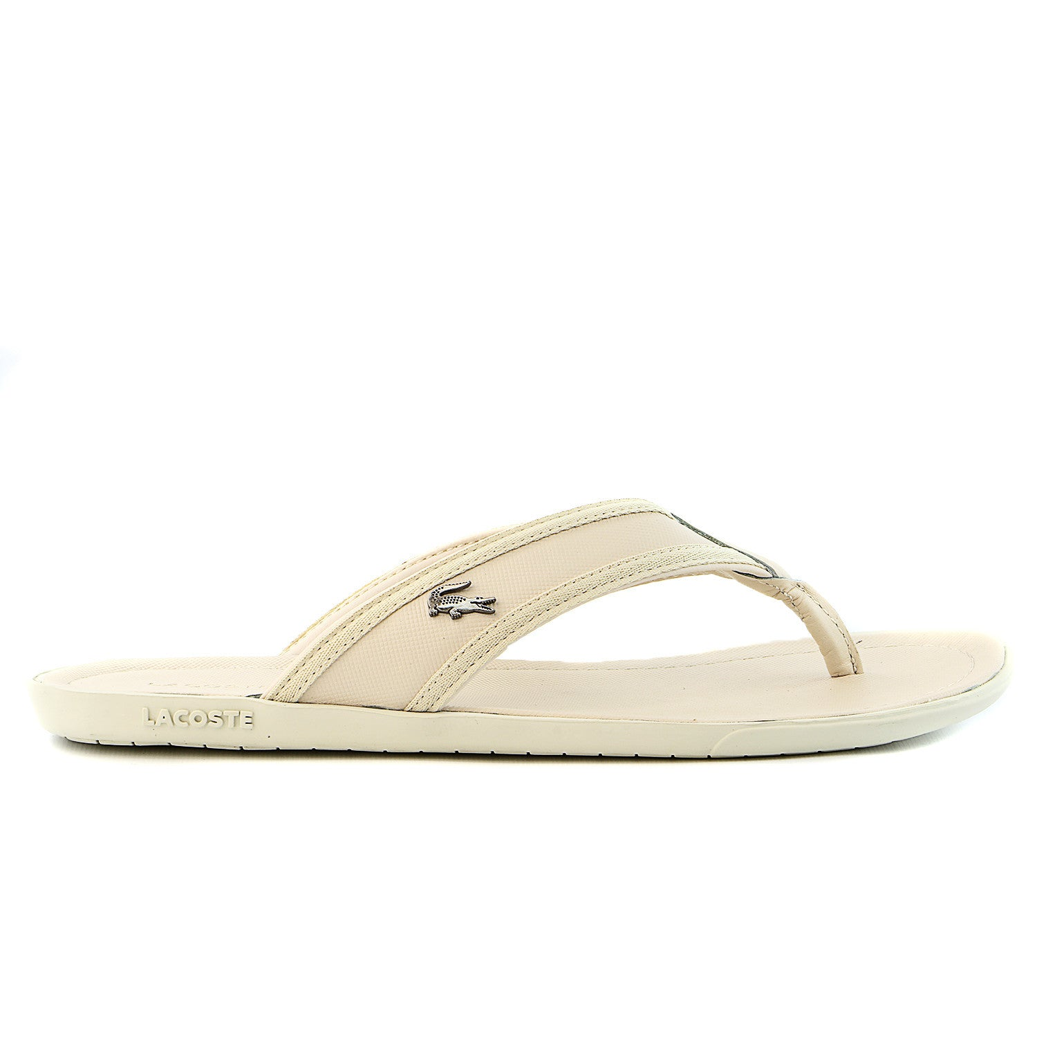 a814eccb9d929 Lacoste Carros 6 Leather Flip Flop Thong Sandal - Black - Mens ...