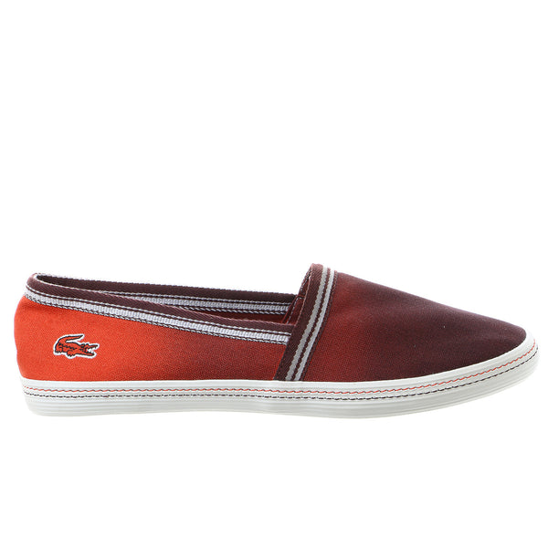 Lacoste Aimard 7 Fashion Sneaker Slip On Shoe - Brown/Red - Mens