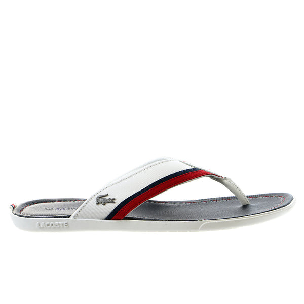 Lacoste Carros 2 Flip Flop Thong Sandal - Off White/Navy - Mens