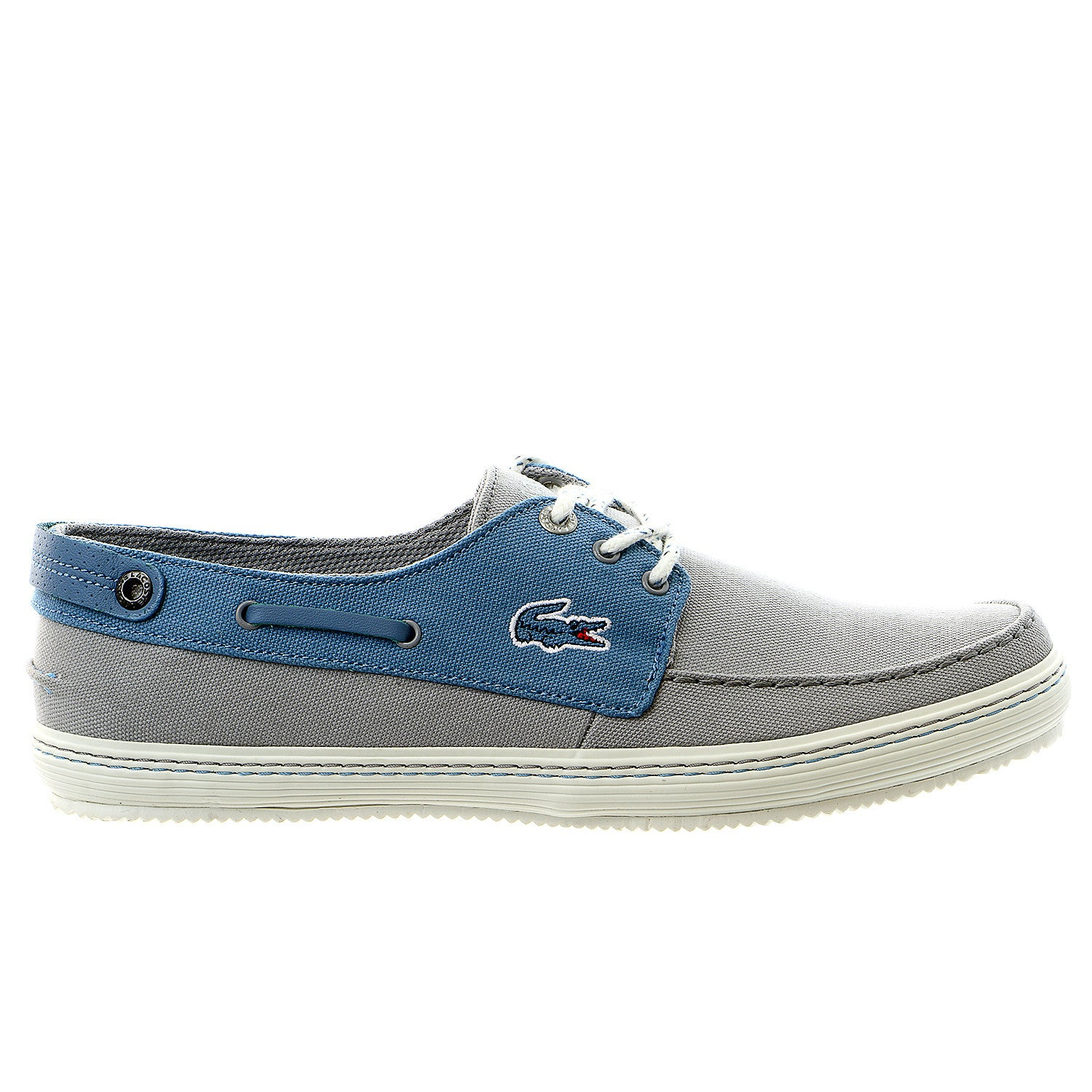0dbf98649684f Lacoste Sumac 8 Moccasin Boat Shoe - Light Grey Blue - Mens ...