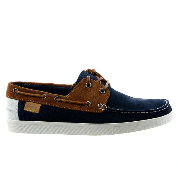 Lacoste Keellson 6 Fashion Sneaker Boat Shoe - Navy/Tan - Mens