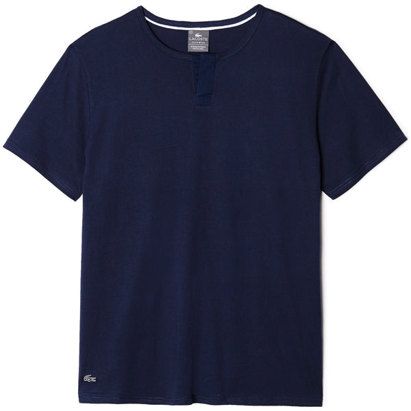 Lacoste Ace Short Sleeve Henley T-shirt - Navy - Mens