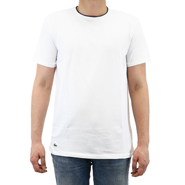 Lacoste Short Sleeve Crew T-shirt - White - Mens