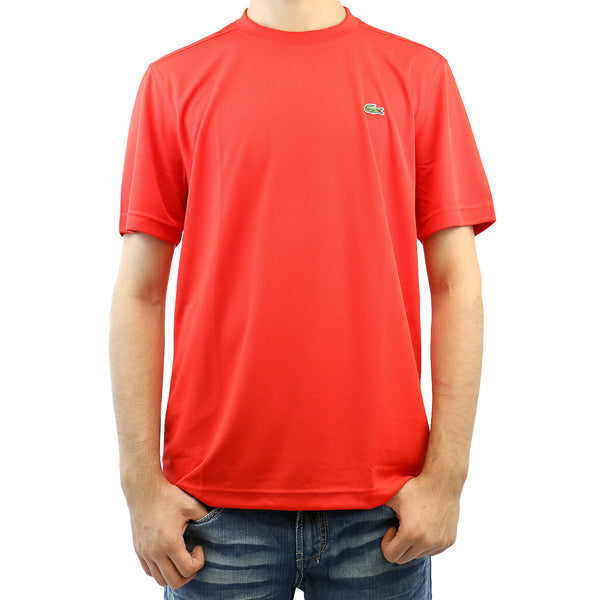 Lacoste Ultra Dry Solid Athletic T-Shirt Tee - Red Currant Bush - Mens