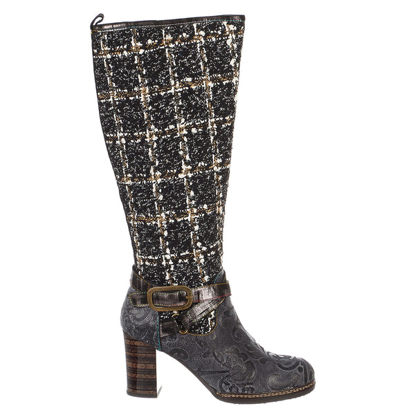 L'Artiste by Spring Step Tweed Boot - Women's
