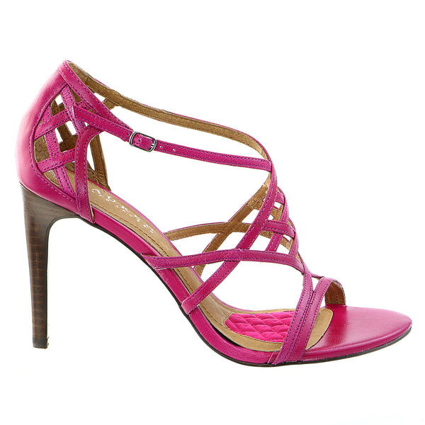 LAUREN Ralph Lauren Sydney Heels Dress Sandal Shoe - Cruise Pink Kidskin - Womens