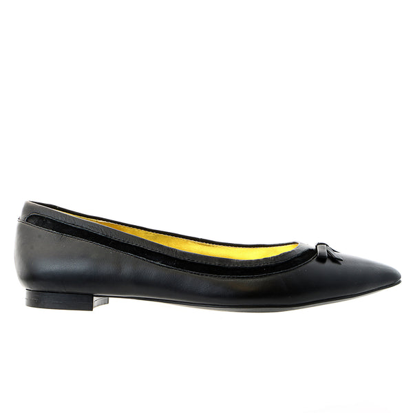 LAUREN Ralph Lauren Sally Ballet Flat Fashion Shoe - Black Nappa - Womens