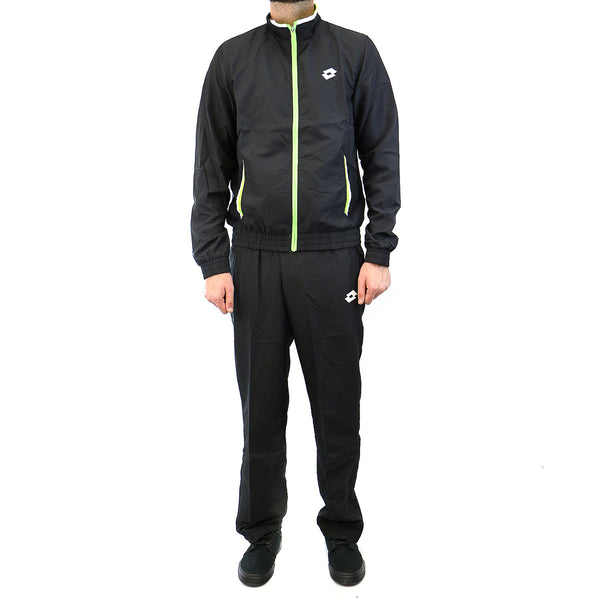 lotto Tracksuit Lob  - Black w/Fluo Clover - Mens