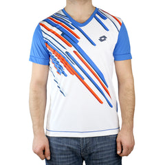 Lotto Slade Tennis Tee Shirt - Atlantic White - Mens