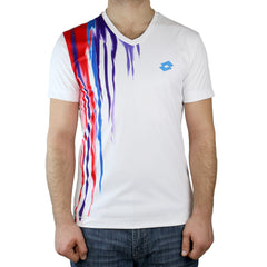 Lotto Cast Tennis Tee Shirt - White/Multi - Mens