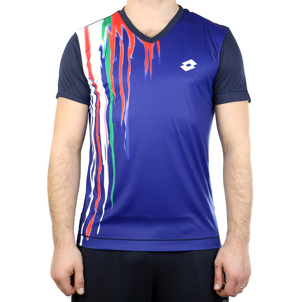 Lotto Cast Tennis Tee - Deep Navy - Mens