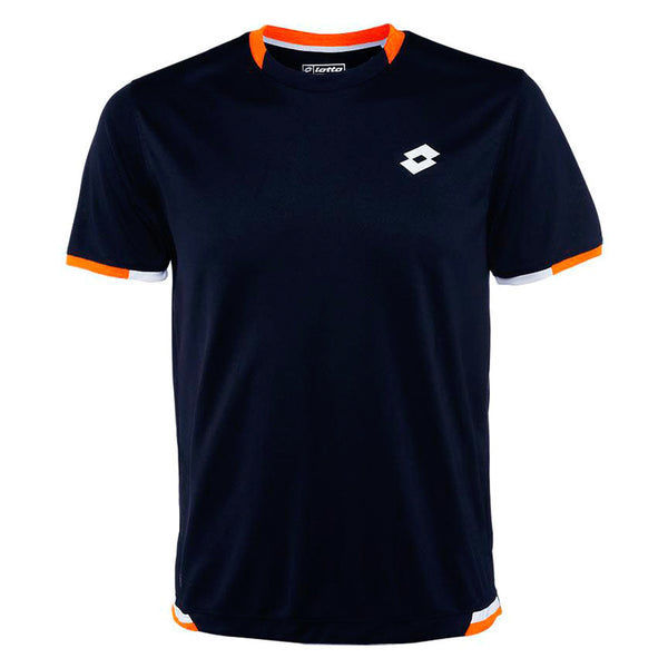 Lotto LOB Polo Tee Shirt - Navy/Samba - Mens