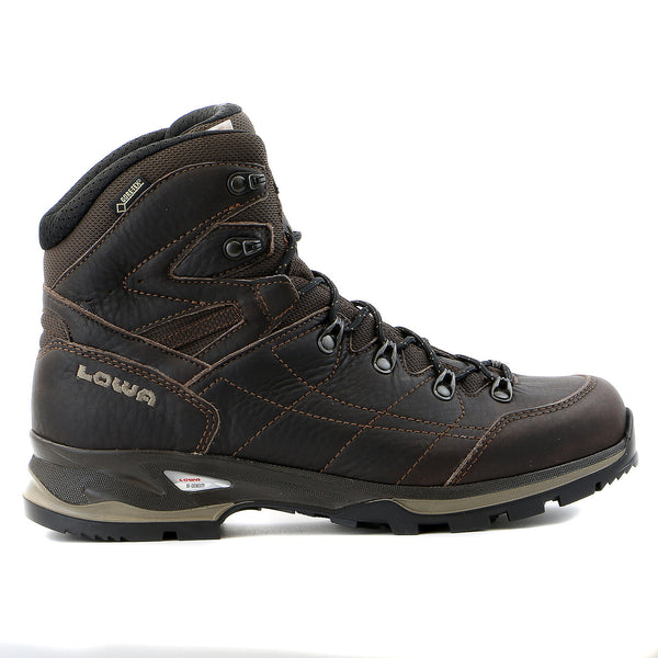 Lowa Hudson Goretex Mid Hiking Boot - Dark Brown - Mens