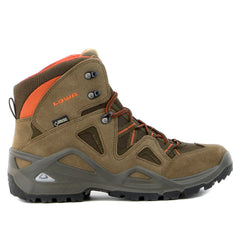 Lowa Zephyr GTX Mid Hiking Boot - Brown/Rust - Mens