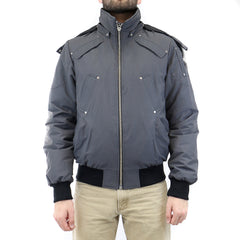 Moose Knuckles 100 Percent Down Ballistic Bomber  - Grey - Mens