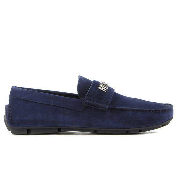 Moschino Rovesciato Moccasin Loafer Shoe - Blue - Mens