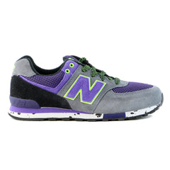 New Balance KL5749 Outdoor Pre Lace Up Running Shoe - Grey/Purple - Boys