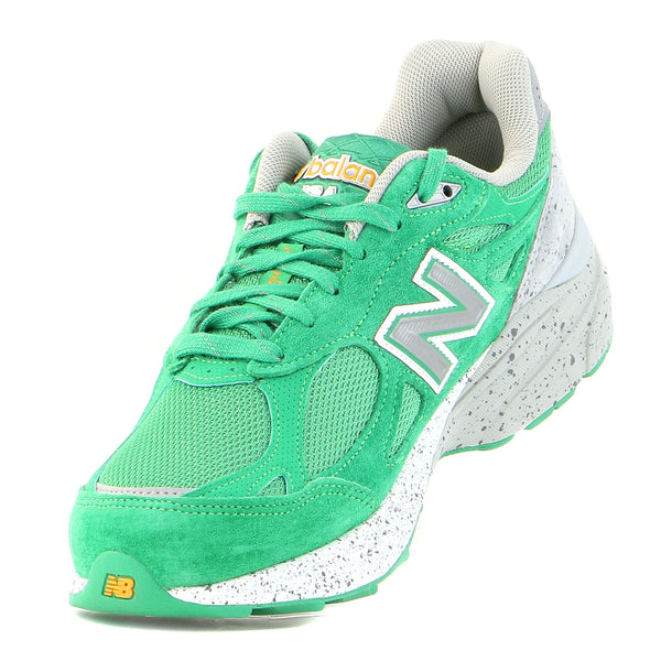 New Balance 990V3 Running Shoe  - Green/Grey - Mens