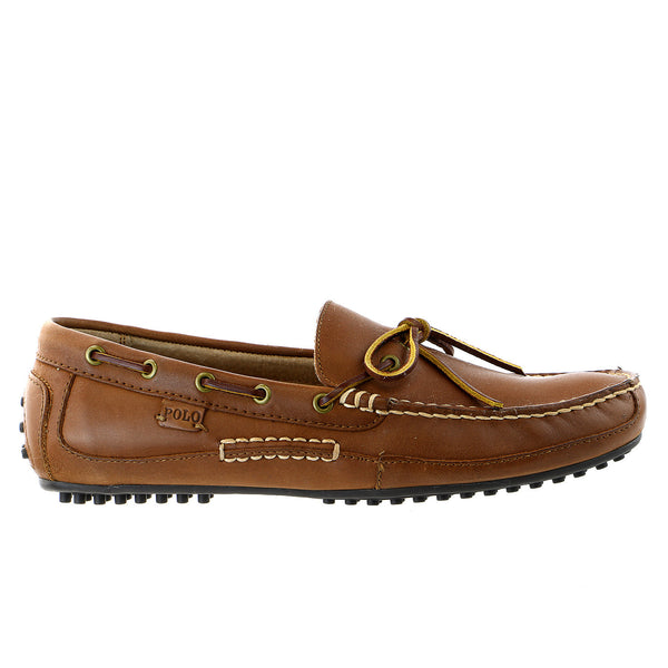 POLO Ralph Lauren Wyndings Moccasin Slip-On Loafer Boat Shoe - POLO Ralph Lauren Tan - Mens