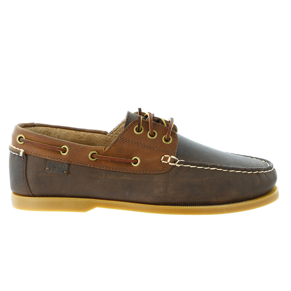 POLO Ralph Lauren Bienne II Moc Toe Oxford Casual Shoe - Newport Navy/Tan - Mens