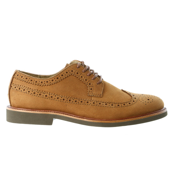 POLO Ralph Lauren Torrington Wingtip Toe Casual Oxford Shoe - Polo Tan Tumbled Nubuck - Mens