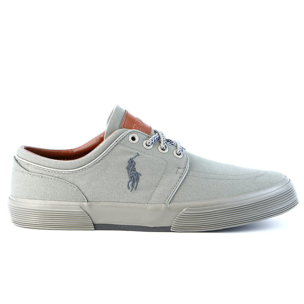 Polo Ralph Lauren Faxon Low Fashion Sneaker Shoe - Grey/Grey - Mens
