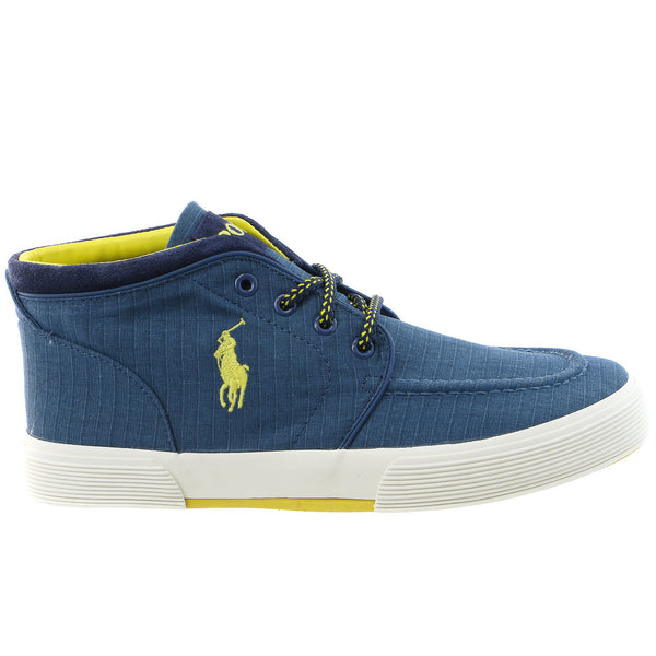 POLO Ralph Lauren Federico Hi-top Fashion Sneaker Shoe - Newport Navy - Mens