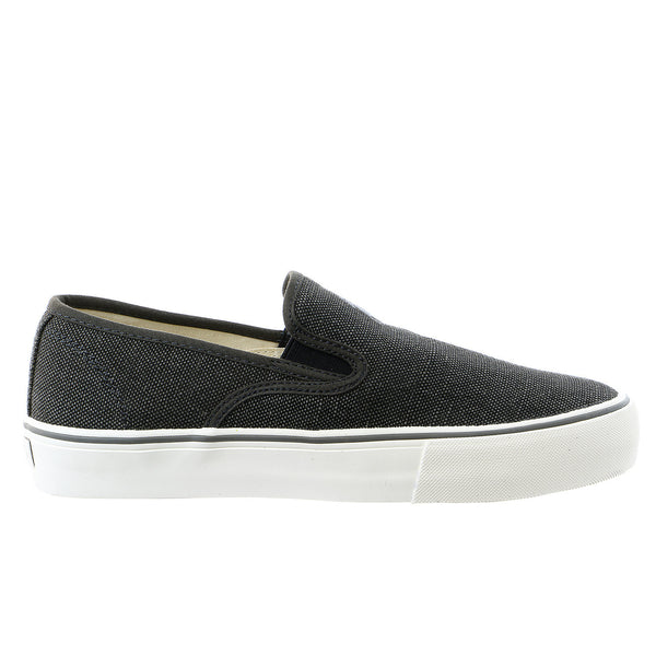 POLO Ralph Lauren Mytton Vintage Burlap Fashion Sneaker Slip On Shoe - Black - Mens
