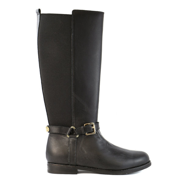 Polo Ralph Lauren Kids Sabeen Fashion Riding Boot - Black Leather - Girls
