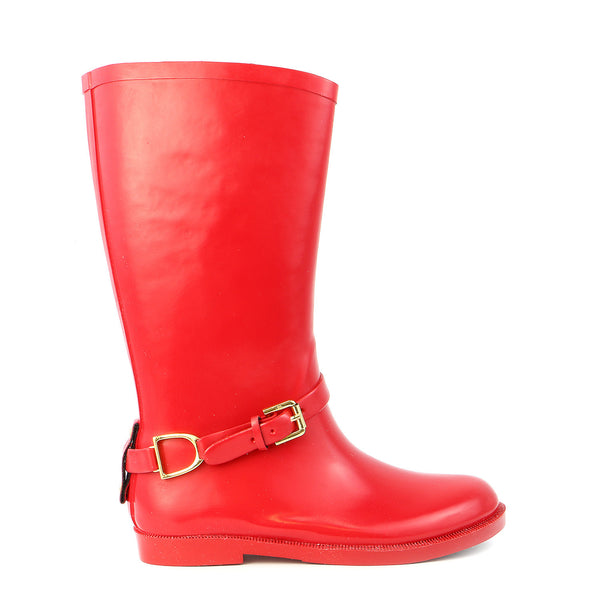 Polo Ralph Lauren Kids Ollivia Riding Rain Boot - Red - Girls