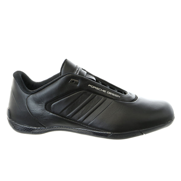 Porsche Design M Athletic III Leather Fashion Sneaker Driving Shoe - Black - Mens