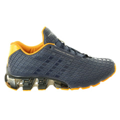 Porsche Design Run Bounce: S3 Running Sneaker Shoe - Midnight Grey / Midnight Grey / Tangerine - Mens
