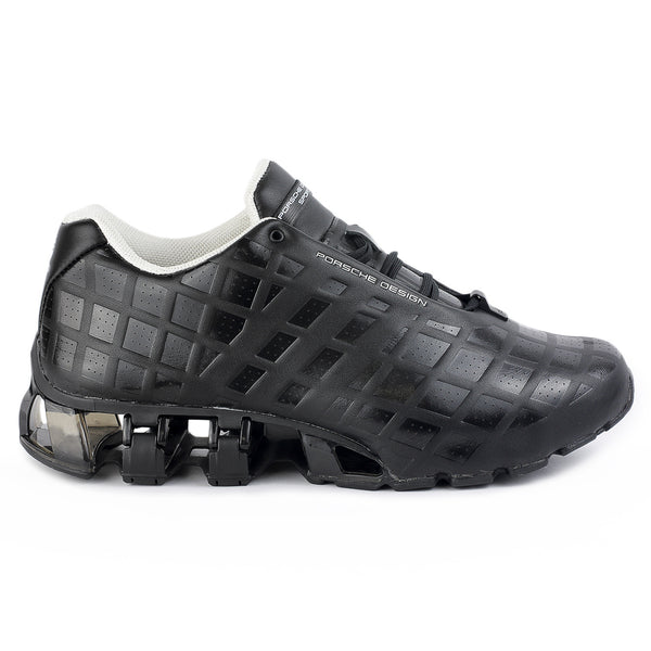 7cb4cbd9d7939 Adidas Porsche Design Bounce S3 Leather Running Shoe - Black - Mens