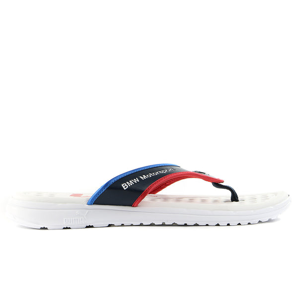 Puma BMW Slip-In Thong Sandal - White/BMW Blue/Red - Mens