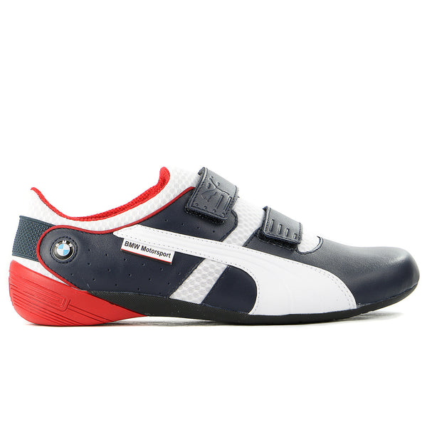 Puma BMW Motorsport Nyter 2 Fashion Sneaker Shoe - White/BMW Team Blue - Mens