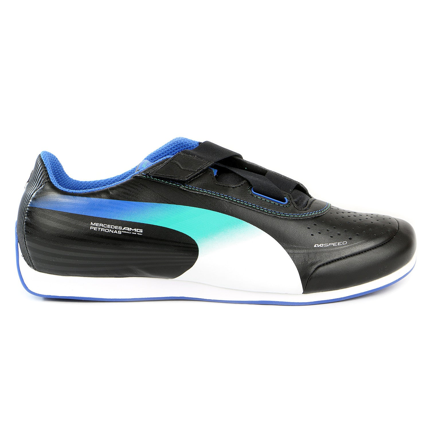 8ddc7e28371b Puma Evospeed Mercedes 1.2 Low NM Fashion Sneaker Shoe - Black White Victoria  Blue - Mens