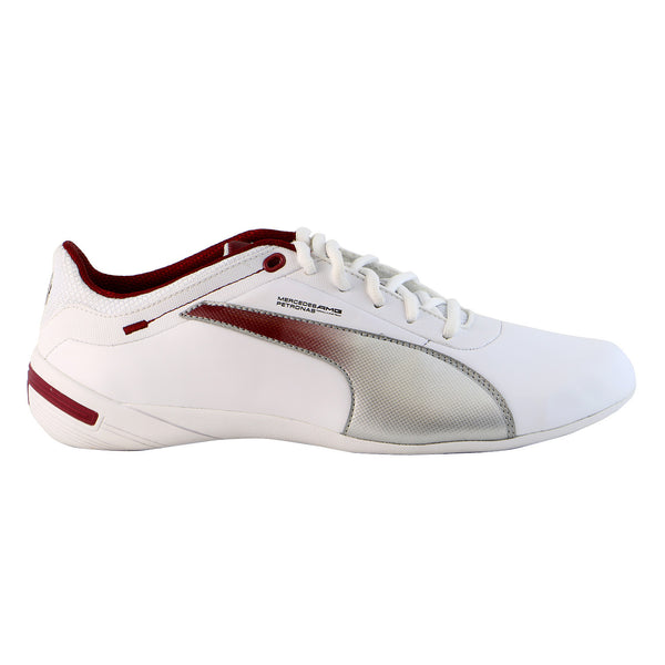 Puma Touring Cat Mercedes Grid Motorsport Fashion Shoe - White/Puma Silver/Biking Red - Mens