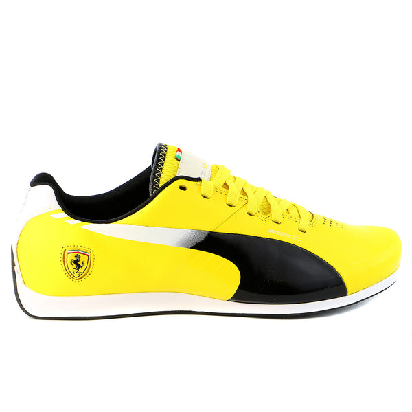 Puma Evospeed 1.3 SF Volante Fashion Sneaker Motorsport Shoe - Vibrant Yellow/Black/Gray Violet - Mens