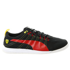 Puma Tech Everfit Ferrari Fashion Sneaker Shoe - Black/Rosso Corsa - Mens