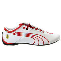 Puma Future Cat M1 Ferrari Tifosi Fashion Sneaker Shoe - White/Rosso Corsa - Mens