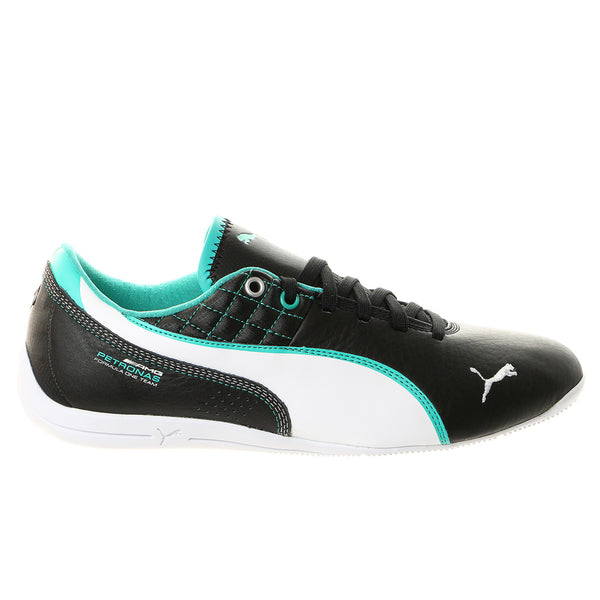 Puma Mercedes Drift Cat 6 Leather Fashion Sneaker Shoe - Black/White/Spectra Green - Mens