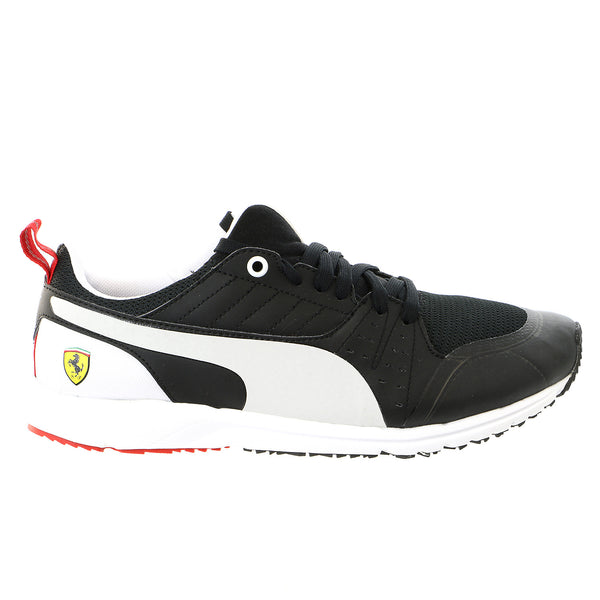 Puma Pitlane Scuderia Ferrari Night Cat Fashion Sneaker Shoe - Black/White - Mens