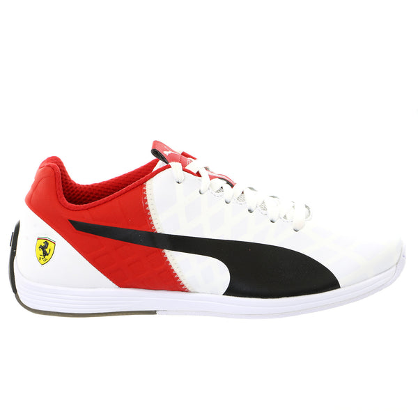 Puma Evospeed 1.4 Scuderia Ferrari Fashion Sneaker Shoe - White/Black/Rosso Corsa - Mens