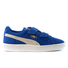 Puma Suede 2 Straps Shoes - Snorkel Blue/White - Boys