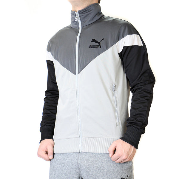 Puma Icon MCS Track Jacket - Limestone Gray - Mens