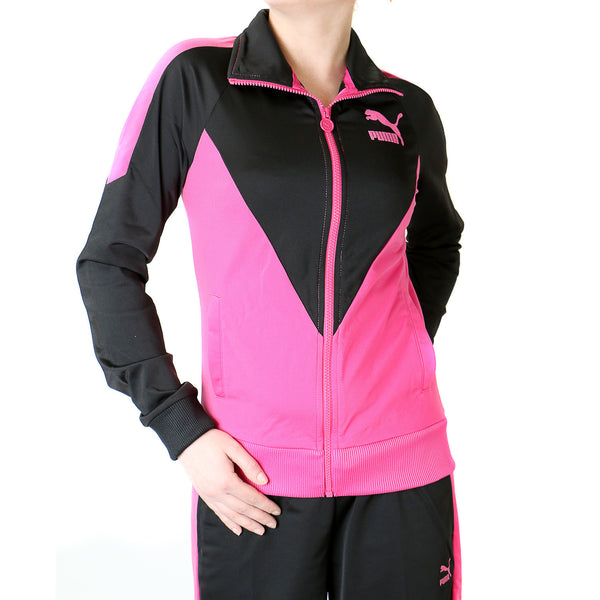 Puma Icon Track Jacket - Black/Beetroot Purple - Womens