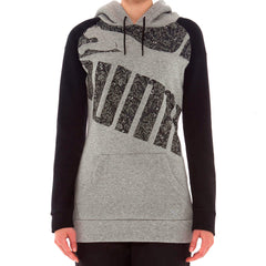 Puma Graphic Logo Hoodie  - Black - Womens