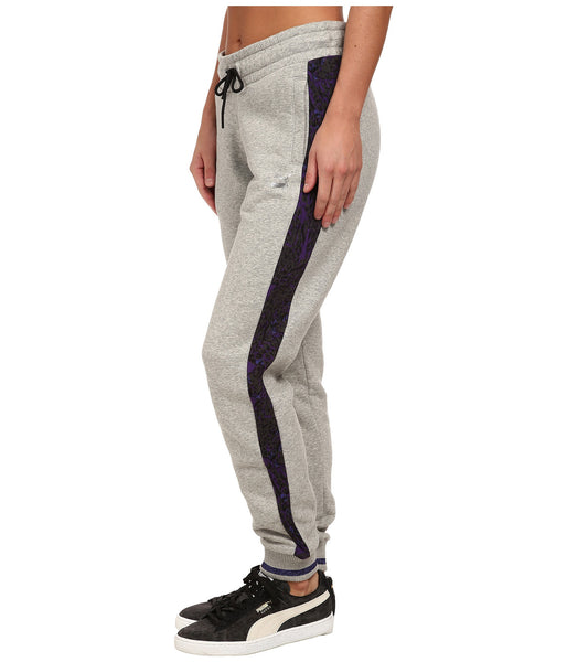 Puma Printed Side Panel Sweatpants  - Grey - Womens