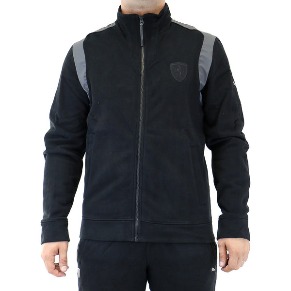 Puma Ferrari Sweat Jacket - Black - Mens